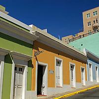 USA, Puerto Rico, San Juan. Street of Old San Juan, Puerto Rico.