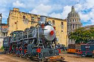 Trains behind the Capitolio, Havana Centro, Cuba.