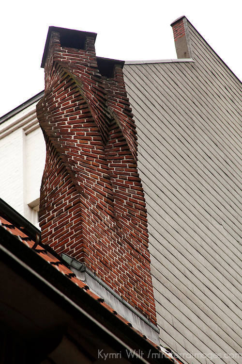 Europe, Germany, Hamburg. Twisted Chimney of the Shopkeepers' Guild, Hamburg.