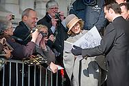 12-2-2015 BRUSSEL Laken  - de Koning Filip en de Koningin Mathilde en de Leden van de Koninklijke Familie Koning Albert II ,Koningin Paola Prinses Astrid ,Prins Lorenz , Prins Laurent , Prinses Claire  wonen de jaarlijkse eucharistieviering bij ter nagedachtenis van de overleden Leden van de Koninklijke Familie. De mis vindt plaats in de Onze-Lieve-Vrouwkerk te Laken. COPYRIGHT ROBIN UTRECHT<br /> 12-2-2015 BRUSSELS laken - King Philip fillip  and Queen Mathilde and the Members of the Royal Family King Albert II, Queen Paola Princess Astrid Prince Lorenz, Prince Laurent, Princess Claire attend the annual celebration of the Eucharist in memory of the deceased members the Royal Family. The Mass will take place at the Our Lady Church in Laken. COPYRIGHT ROBIN UTRECHT