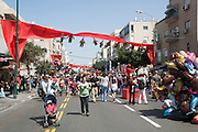 Israel, Tel Aviv, Purim celebration March 2008 the crowd at the street party