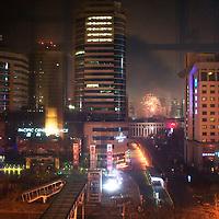 BEIJING, JANUARY-25: firecrackers on new years' eve.