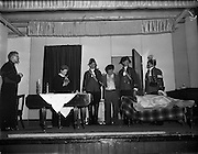 09/04/1961<br /> 04/09/1961<br /> 09 April 1961<br /> Opening of Thurles Drama Festival at Premier Hall Thurles, Co. Tipperary, organised by Muintir na T&iacute;re and Gael Linn. The players in action.
