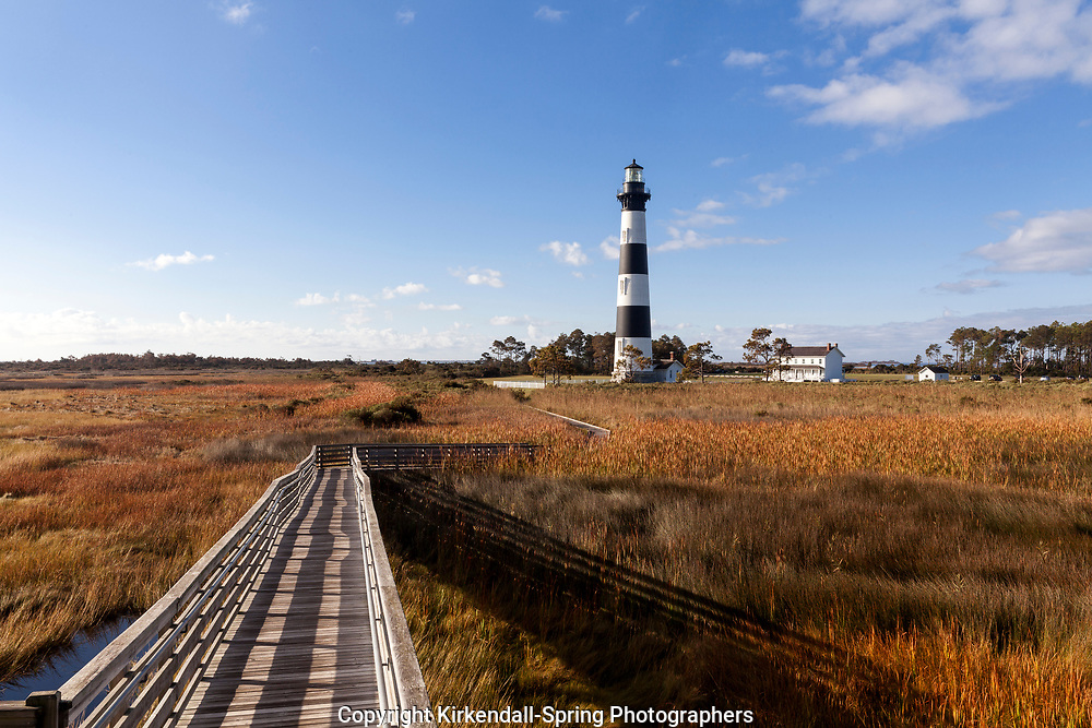 NC00800-00...NORTH CAROLINA - Bodie Island Lighthouse on Bodie Island along the Outer Banks in Cape Hatteras National Seashore.