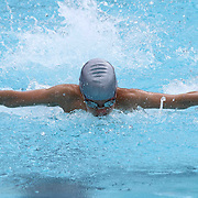 Swimmer Andrew Hoch (12) competes in the 100 meter individual medley during the Summer Swim league championships finials Saturday, July. 17, 2015 at Western YMCA in Wilmington, DEL