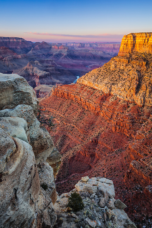 AZ Arizona Colorado River Grand Canyon National Park South Rim Sunset ...