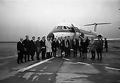1966 - Irish Rugby Team Depart For France.  C613.