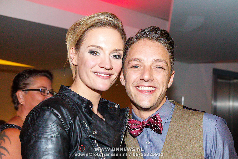 NLD/Tilburg/20150913 - Premiere musical Grease, Tommie Christiaan en partner Michelle Splietelhof