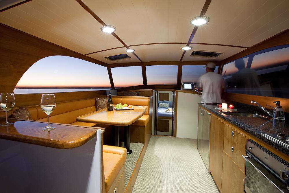 CLIENT: Salthouse Boatbuilders<br /> DESCRIPTION: Interior photographs of new boat
