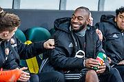 DEN HAAG - ADO Den Haag - Feyenoord , Voetbal , Eredivisie , Seizoen 2016/2017 , Kyocera Stadion , 19-02-2017 , Feyenoord keeper Kenneth Vermeer zit na zijn blessure weer voor het eerst bij de selectie