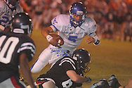 Water Valley's E.J. Bounds (5) vs. Nettleton in Nettleton, Miss. on Friday, October 12, 2012. Water Valley won.