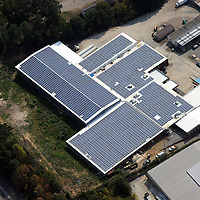 750-kilowatt solar array on the roof of a Shoe Show warehouse in Concord, NC. The project cost $4 million.