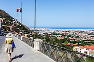 12 July 2016, Monreale Italy - A view of city of Palermo from Monreale a small city of sicily near Palermo.