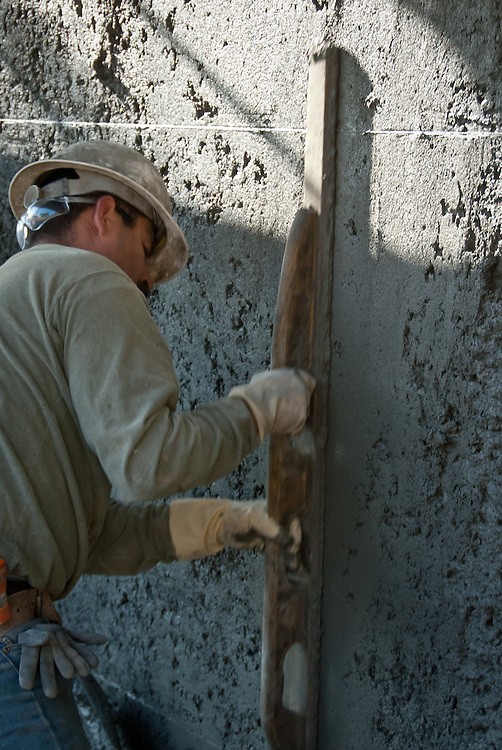 Concrete foundation work on a lrage residential construction project.