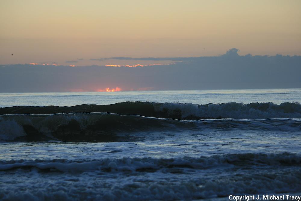 Firey Sunrise on a Jekyll Island Beach in October.