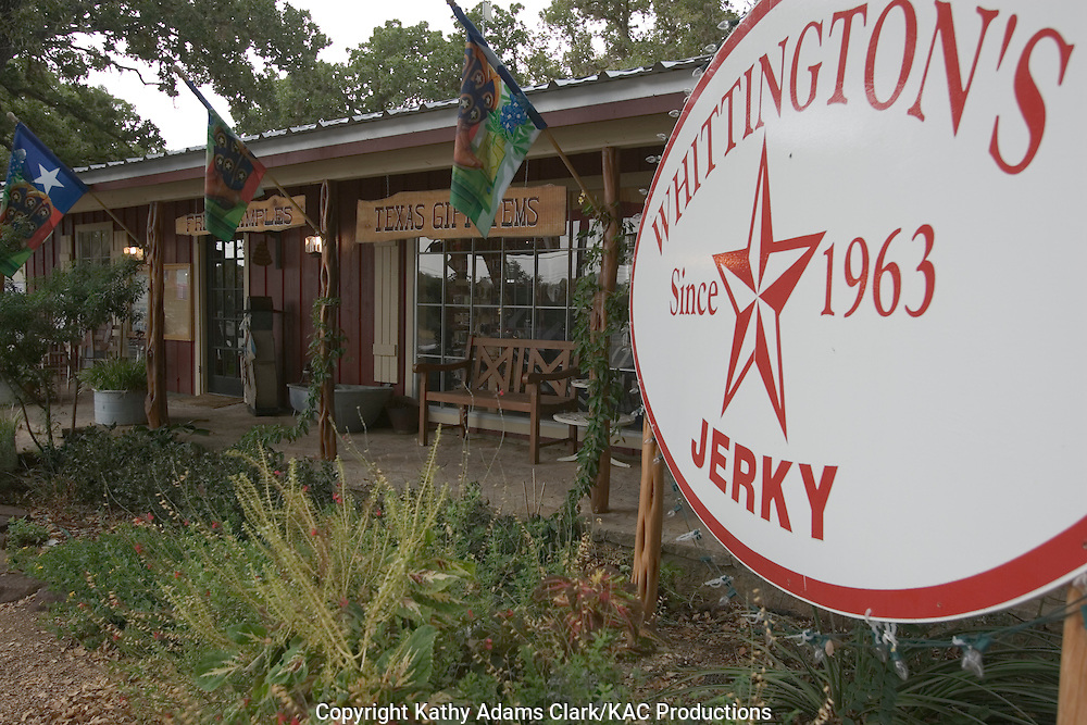 Whittington's Jerky  Shop in Johnson City, Texas on Highway 281.  Store filled with Texas made food and wines plus gifts.