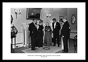President John F. Kennedy attends a dinner in his honour at &Aacute;ras an Uachtar&aacute;in.<br />