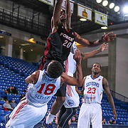 Sioux Falls Skyforce Forward Scotty Hopson (20) drives to the basket as Delaware 87ers Guard DJ Seeley (18) defends in the Second half of a NBA D-league regular season basketball game between the Delaware 87ers and the Sioux Falls Skyforce (Miami Heat) Tuesday, Jan. 27, 2015 at The Bob Carpenter Sports Convocation Center in Newark, DEL
