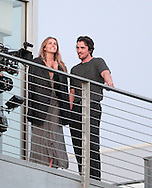 "June 29th 2012 Marina del Rey, CA. ***EXCLUSIVE*** Christian Bale & Isabel Lucas film a scene for ""Knights of Cups"". For this film about 'a man in search of love and truth', Bale has also been seen filming scenes with a number of Hollywood's hottest leading ladies. Photo by Eric Ford/ On Location News 818-613-3955 info@onlocationnews.com"