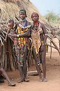 Africa, Ethiopia, Omo River Valley Hamer Tribe