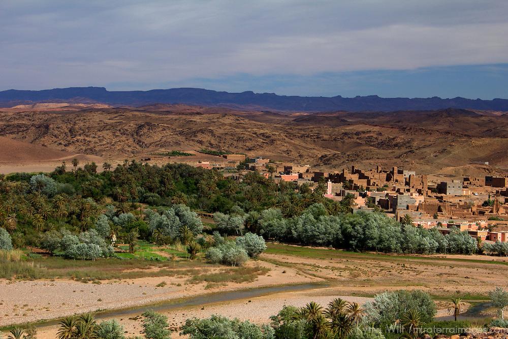 Africa, Morocco, Skoura. Kasbah Village near Skoura.