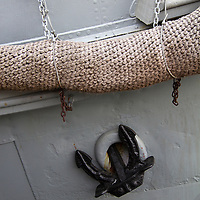 Europe, Norway, Oslo. Ship anchor detail in Oslo port, Norway.