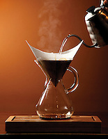 Chemex pour-over coffee method at Luck Brothers Coffee.(Jodi Miller/Crave)