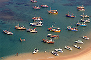 Fishing boats at Hikkaduwa. south west coast.