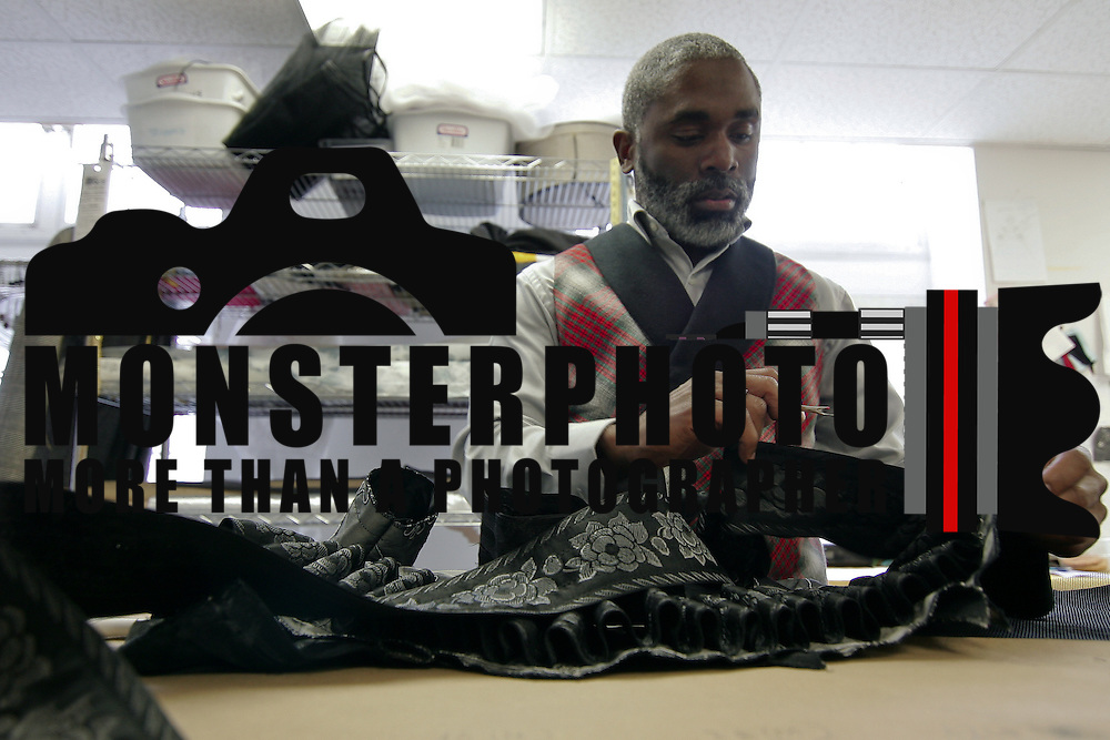 10/20/10 Wilmington DE: Costume Coordinator Shawn Baron Pinckney working on costumes while La Traviata Rehearsals were in affect at the Opera Delaware in Wilmington. Special to The News Journal/SAQUAN STIMPSON