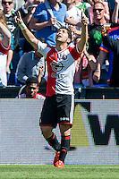 ROTTERDAM - Feyenoord - SC Heerenveen , Stadiond de Kuip , Voetbal , Eredivisie Play-offs Europees voetbal, seizoen 2014/2105 , 24-05-2015 , Feyenoord speler Anass Achahbar scoort de 1-0 en viert dit