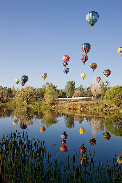 """Balloons Over San Rafael Park, Reno""- These hot air balloons are part of The Great Reno Balloon Race at San Rafael Park."