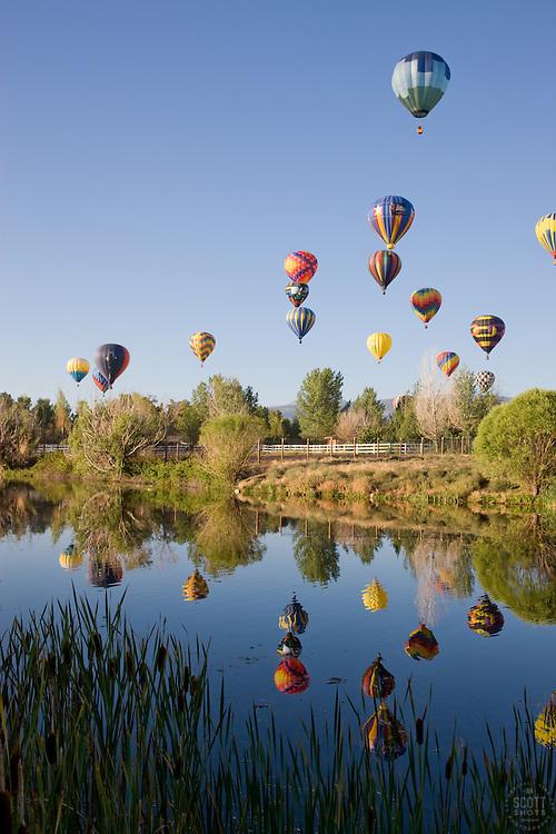 """Balloons Over San Rafael Park, Reno""- These hot air balloons are part of The Great Reno Balloon Race at San Rafael Park."