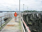 Panama-2014<br /> Walking on Gatun Dam