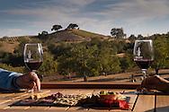 Couple enjoying food & wine tasting at Adelaida, Lifestyle wine tasting, Paso Robles, California