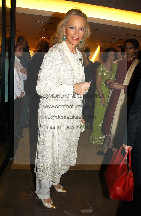 HRH PRINCESS MICHAEL OF KENT at a party to celebrate the publication of 'Made for Maharajas' by Dr Amin Jaffer hosted by Louis Vuitton at their store on Sloane Street, London on 10th October 2006.<br />