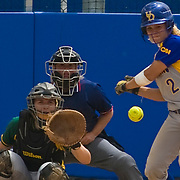 05/07/2010 Newark DE: George Mason Softball Sweeps Doubleheader From Blue Hens, 5-0 and 5-4, In game one The Fighten Blue Hens defense couldn't keep up with George Mason. However George Mason defense was magnificent helping to blank the blue hens 5-0...In game two Delaware struck first scoring 3 runs in the first inning, rocking George Mason Pitcher Miranda Cranford  for three hits on three earn runs. in the forth inning George Mason came back with three runs of their own to tie the game at three all, However a costly error in the sixth inning proved to be delaware undoing losing 5-4 ..The Blue Hens, who dropped to 20-29-1 overall and 8-12 in the Colonial Athletic Association, were eliminated from contention for next week's conference tournament after James Madison defeated UNC Wilmington later in the day. Mason improved to 20-24 overall and 8-12 in conference play..Delaware and George Mason close out their 2010 seasons on Saturday with a single game beginning at 12 noon at the Delaware Stadium.  prior the game The Blue Hen will Honor Seniors Cecile Egan, Michelle Kenny, Mary Ann Magee and Shanette White...Thank you for a great career guys...Buy/License/Royality Free @ monsterphotoiso.com.