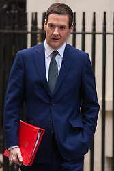 London, March 3rd 2015. Members of the cabinet arrive at 10 Downing Street for their weekly meeting. PICTURED: Chancellor, George Osbourne