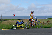 Cyclists on the road in Ireland
