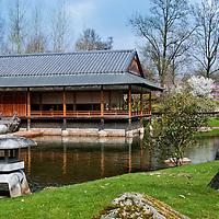 Japanese Garden, Hasselt, Belgium Stock Photos