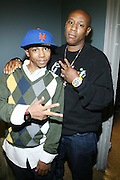 l to r: Baby Triggy and Du Love at the South Pole Fashion show during ' The Stay in School Concert ' facilated by Entertainers for Education held at The Manhattan Center on October 28, 2008 in New York City