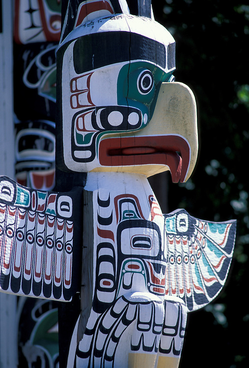 Totem Pole at Stanley Park,.Vancouver,.British Columbia, Canada