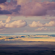big sky montana, clouds building over the prairie in montana, conservation photography - montana wild prairie