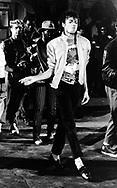 "Michael Jackson 1983 filming ""Beat It"".© Chris Walter."