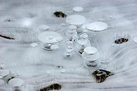 Details from a frozen lake