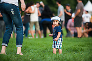 A young concertgoer attends day one of Ruido Fest.