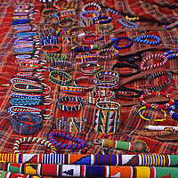 Africa, Kenya. Maasai beadwork and crafts