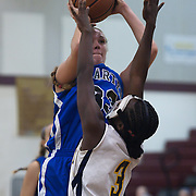 12/27/11 Wilmington DE: Wilmington Charter Senior Center Kelly Perillo #33  shoots the ball over seaford Amira Holland #3 during a Diamond State Classic game Tuesday Dec. 28, 2011 at St. Elizabeth High School in Wilmington Delaware...Special to The News Journal/SAQUAN STIMPSON