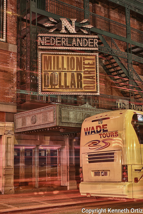 The Nederlander theater on 41st Street where Million Dollar Quartet was recently playing.