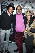 l to r: Brian Jackson, Danny Simmons and Mark Blackshear at The First Annual 2009 Gold Rush Awards held at the Red Bull Space on February 11, 2009 in New York City..Rush Arts Gallery (Chelsea, NY) and Corridor Gallery (Clinton Hill, Brooklyn) founded 1996 are core programs within the Rush Philanthropic Arts Foundation (non-profit) dedicated to providing urban youth with significant exposure and access to the arts, as well as providing exhibition opportunities to artists.  The exhibitions and education programs of the galleries are also sponsored in part by a grant from the New York State Council for the Arts and are free and open to the public..