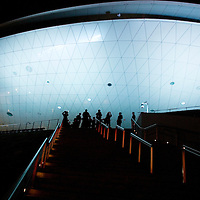 SHANGHAI, APRIL 30, 2010 : visitors enter the World Expo stadium to watch the  opening ceremony.